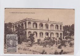 CONGO BELGE. MATADI. BATIMENT DU DISTRICT. CIRCULEE 1931 A BELGIQUE- BLEUP - Belgisch-Congo - Varia