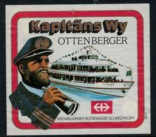 Rare //Etiquette De Vin // Bateaux  // Kapitäns Wy, Ottenberger - Etiquettes