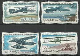 "Mauritanie Aerien YT 57 à 60 (PA) "" Avions "" 1966 Neuf** - Mauritanie (1960-...)"