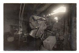 CARTE PHOTO ALLEMANDE DE LA BATTERIE D' HERMEVILLE EN WOEVRE-MEUSE 55-VERDUN-14-18-1WK-WW1-1WELTKRIEG-CANON. - France