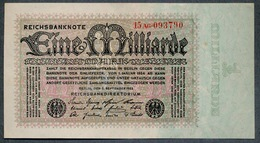 P114 Ro111b 1 Milliard Mark 05-09-1923. AUNC - [ 3] 1918-1933 : Repubblica  Di Weimar
