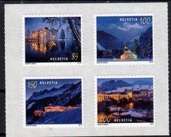 SWITZERLAND, 2018, MNH,CHRISTMAS, MOUNTAINS, CHURCHES, BRIDGES, 4v - Christmas