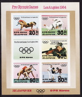 Nord North Korea, DPRK, 1983, Olympic 1984, Sheetlet Imperforated - Summer 1984: Los Angeles
