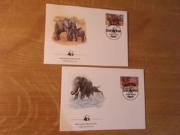 TC5 / UGANDA / Enveloppe Thème éléphant / WWF     SUPERBE - Elephants