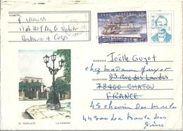 Cuba Devant De Lettre Entier Postal + Timbre - Cuba