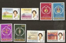 Seychelles  1977  SG  393-40  Silver Jubilee Unmounted Mint - Seychelles (1976-...)