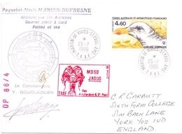 TAAF MISSION AUX ILES AUSTRAIES MARTIN DE VIVIES STPAUL AMS TAAF  COVER   (DICE180003) - Programmi Di Ricerca