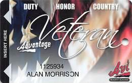 AVI Resort & Casino - Laughlin, NV - Veteran Slot Card - Cartes De Casino