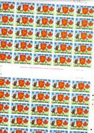 1978 Isle Of Man,  « North American Manx », 114 X  129**et 119 X  128**en Feuille De 50 Et Bloc, Faciale 12,50 £ - Man (Ile De)
