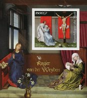 Mali 2018 MNH Rogier Van Der Weyden Crucifixion 1v S/S Paintings Religious Art Stamps - Religious