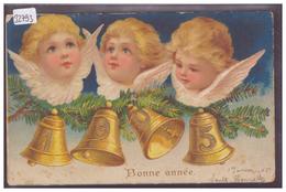 BONNE ANNEE - MILLESIME 1905 - CARTE EN RELIEF - PRÄGE KARTE - TB - New Year