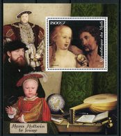 Mali 2018 MNH Hans Holbein The Younger Adam & Eve Henry VIII 1v S/S Paintings Religious Art Stamps - Religious