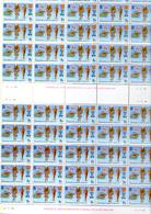 1978    Ile De Man, Jeux Du Commonweath,  119 X  126**, En Feuille De 50 Et Bloc, Faciale 8,33 £, - Man (Ile De)