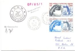 TAAF 1984 MARTIN DE VIVIES STPAUL G.G.M MARION DUFRESNE COVER   (DICE180005) - Navi Polari E Rompighiaccio