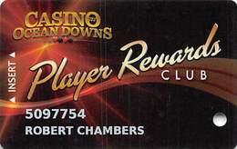 Casino At Ocean Downs - Berlin MD - Slot Card - Casino Cards