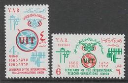 PAIRE NEUVE DU YEMEN REP. ARABE - CENTENAIRE DE L'UNION INTERNATIONALE DES TELECOMMUNICATIONS N° Y&T 109/110 - Télécom