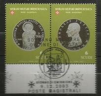 2003 ORDINE DI MALTA SMOM   Monete Money Completa Usata FDC Bellissima - Malte (Ordre De)