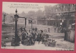 GREVE DES CHEMINOTS DU NORD ( 1910 ) Les Soldats Surveillant L'Entrée Et La Sortie Des Trains....... - Strikes