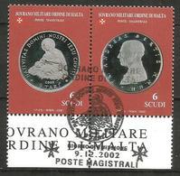 2002 ORDINE DI MALTA SMOM   Monete Money Completa Usata FDC Bellissima - Malte (Ordre De)