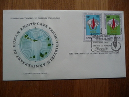 (S) Cape Verde FDC 18-12-1978 HUMAN RIGHTS With Cachet - Cap Vert