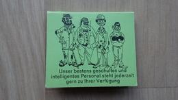 """Zündholzheftchen Mit Einer Karikatur (""""Unser Bestens Geschultes...Personal"""") - Zündholzschachteln"""