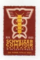 Svizzera - 1933 - ETICHETTA - ERINNOFILO - Lausanne - Schweizer Comptoir - Vedi Foto - (FDC13218) - Erinnofilia
