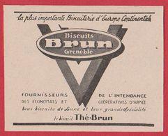 Biscuits Brun Grenoble, 1950 - Publicités