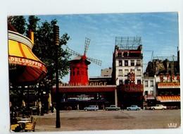 U4093 Postcard Moulin Mulino Molen Mulhe Mill - MOULIN ROUGE, PARIS + Auto Cars Voitures _ Ed Chantal 531 - Mulini A Vento
