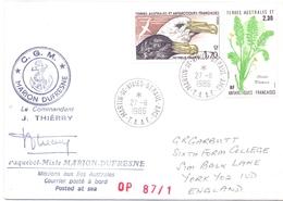 TAAF  MARION DUFRESNE  C.G.M. 1986 MARTIN DE VIVIES   COVER   (DICE180008) - Navi Polari E Rompighiaccio