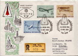 Postal History Cover: Austria R Cover - Airplanes