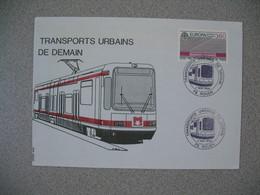 Enveloppe 1988    Transports Urbains De Demain  Rouen - Trains