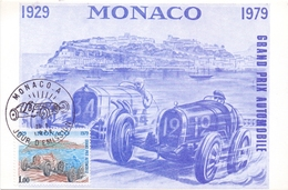 MONACO GRAN PRIX AUTOMOBILE FDC 1879 POST CARD  MAX  (DICE180009) - Automobili