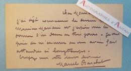 Carte Lettre Autographe Marcel BASCHET Peintre (portrait Debussy) Illustrateur Né à Gagny - Dessin MARIANI - Autographes