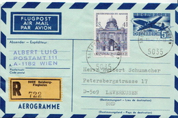Postal History Cover: Austria R Cover, Aerogramme And 4 More Items For Urss - 1945-.... 2nd Republic