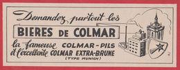 Bières De Colmar, Colmar Pils, Colmar Etra Brune, 1950. - Werbung