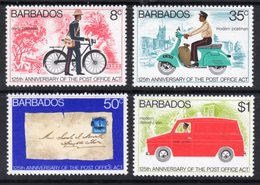 BARBADOS - 1976 POST OFFICE ANNIVERSARY SET (4V) FINE MNH ** SG 565-568 - Barbades (1966-...)
