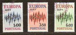 Portugal Cept 1972 Yvertnr. 1150-52 (°) Used Cote 2.40 Euro - 1910-... République