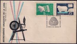 Uruguay - 1971 -  FDC - Secrétariat Uruguayen De La Laine - Mouton - Laine - Uruguay