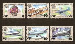 Fidji Fiji 1983 Yvertnr. 482-87 *** MNH Cote 8,50 Euro Avions Vliegtuigen - Fidji (1970-...)