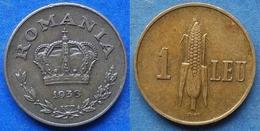 ROMANIA - 1 Leu 1938 KM# 56 Carol II (1930-1940) - Edelweiss Coins - Roumanie