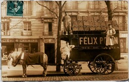 Carte Photo Chariot Felix Potin - Carnaval