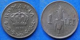ROMANIA - 1 Leu 1939 KM# 56 Carol II (1930-1940) - Edelweiss Coins - Romania
