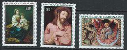 Gabon YT PA 66-68 XX / MNH Murillo Mates De Morales Art Peinture - Gabon (1960-...)