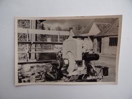 Photo Originale Détail MOTEUR D'une MACHINE AGRICOLE Faucheuse Lieuse à NANGIS Agriculture Paysan Céréalier Ferme - Berufe