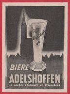 Bière Adelschoffen, Strasbourg, 1950. - Advertising