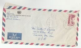 1958 LEBANON UNOGL Forces UN OBSERVER GROUP IN LEBANON Airmail COVER To USA United Nations - Lebanon