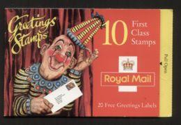 GB Markenheftchen (MH 107) / Booklet - 1995 - ** / Postfrisch / Mint - 10 First Class Greetings Stamps - Carnets