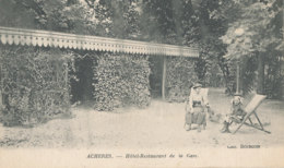 AL 884  / C P A    -  ACHERES    (78)  HOTEL RESTAURANT DE LA GARE - Acheres