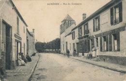 AL 887  / C P A    -  ACHERES    (78)   RUE DU COMMERCE - Acheres