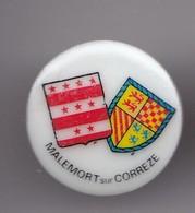 Pin's En Porcelaine Thosca Limoges Malemort Sur Corrèze Réf 7601JL - Villes